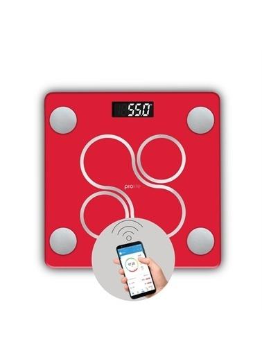 Polo Smart Polosmart Psc12 Prolife Yağ Ölçer Akıllı Bluetooth Tartı Baskül Kırmızı Renkli